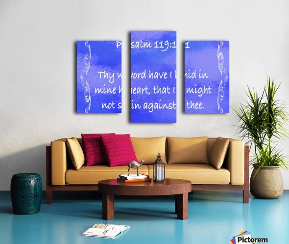 Psalm 119 11 4BL Canvas print