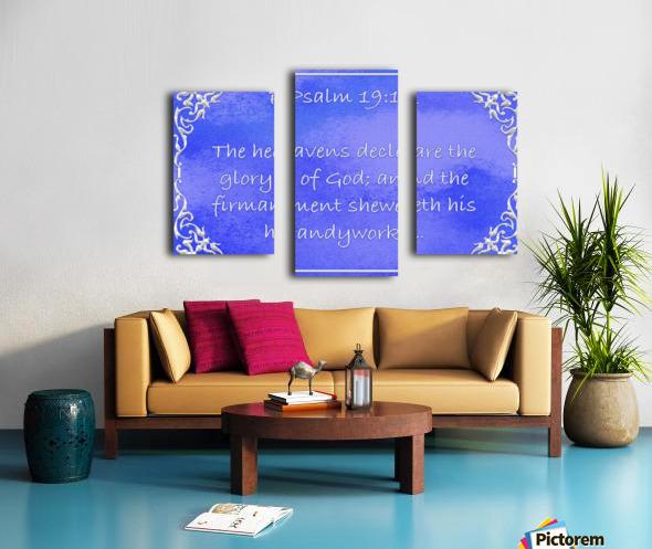 Psalm 19 1 1BL Canvas print
