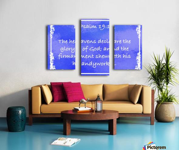 Psalm 19 1 9BL Canvas print