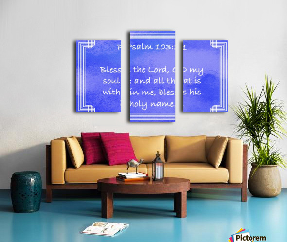 Psalm 103 1 2BL Canvas print