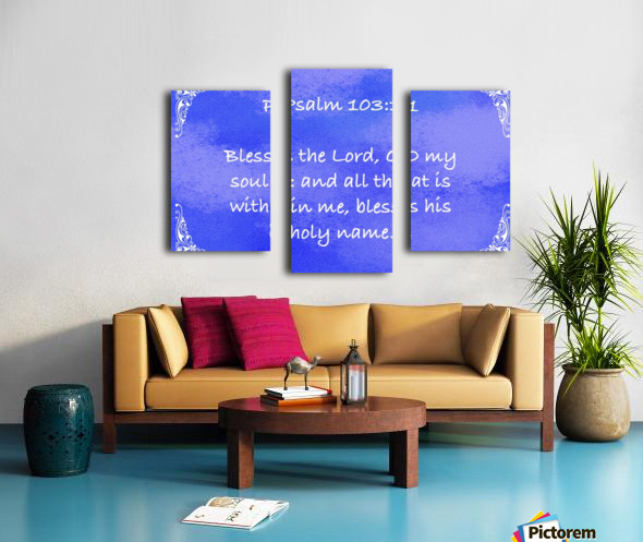 Psalm 103 1 5BL Canvas print