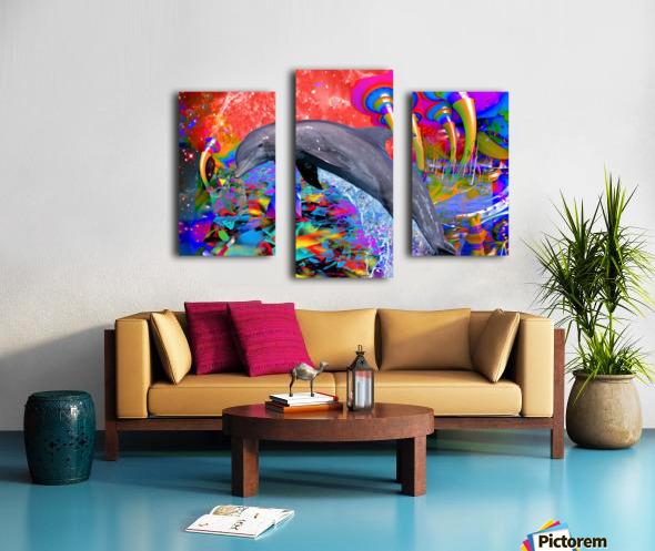 Dolphin Color Splash Canvas print