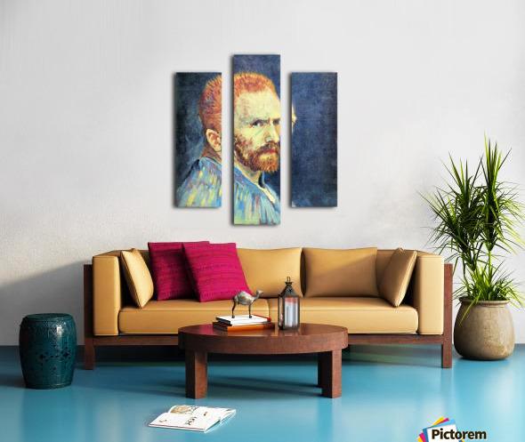 Self-Portrait with short hair by Van Gogh Canvas print