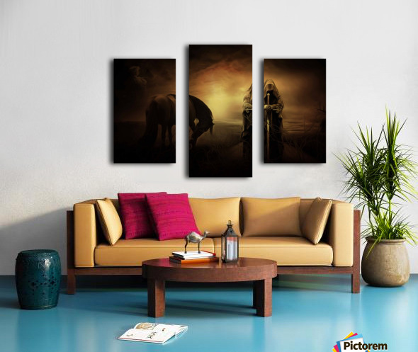 knight with light Canvas print