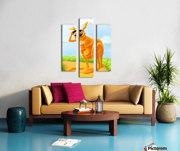 Cute Kangaroo Canvas print