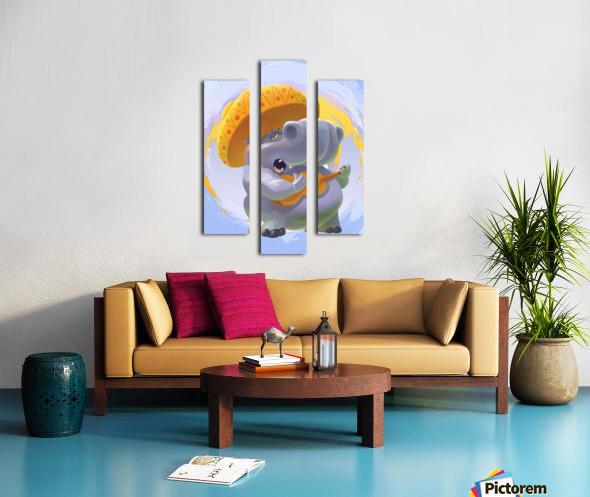 Hippopotamus mariachi Canvas print