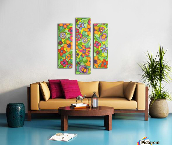 Reflecting Flowers Canvas print
