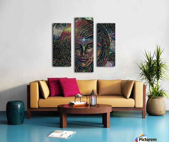 Womans Face Canvas print