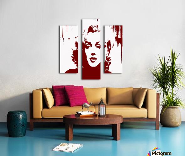 Sadness of Marilyn Monroe Canvas print