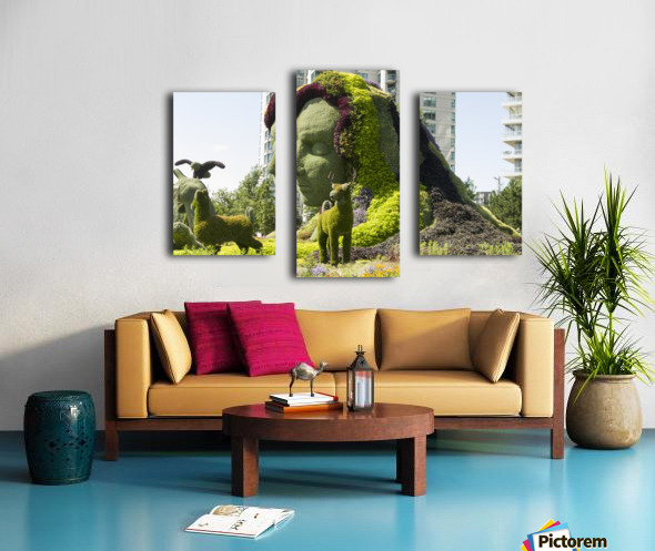 Mother Earth The Legend of Aataentsic with some of her creatures 4 Canvas print