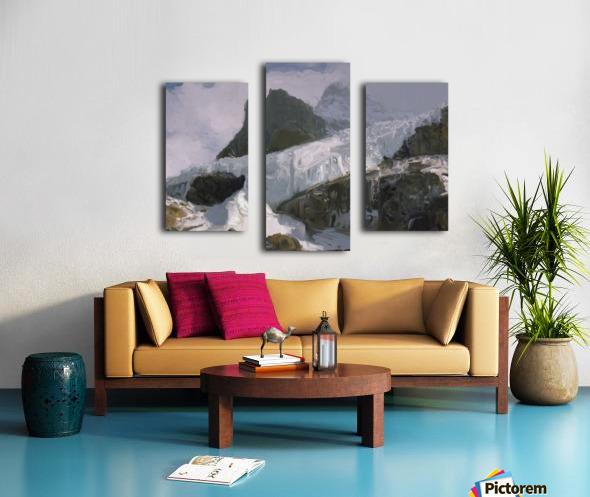 Athabaska Glacier Digital Painting 52 70 200px Canvas print
