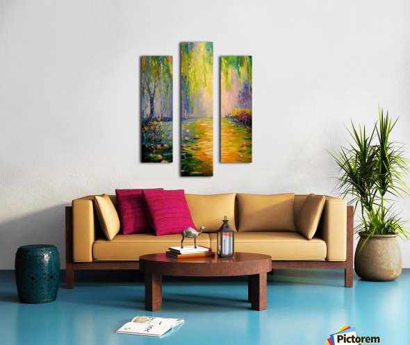 Fabulous pond Canvas print