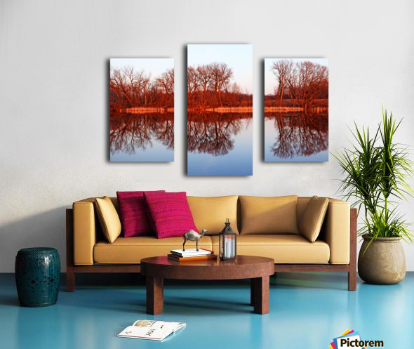 Spring Sunset Glow I Canvas print