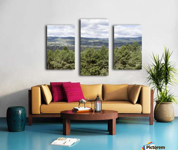 A view of Okanagan Lake and part of Kelowna from near the top of Mission Hill Road 3 Canvas print