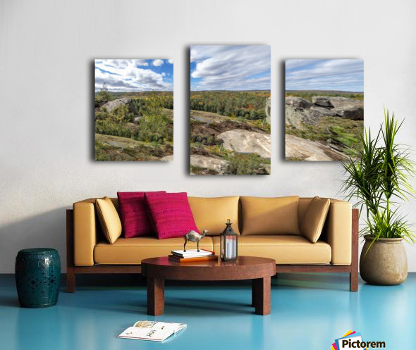 Eagles  Nest Panorama 3a Canvas print
