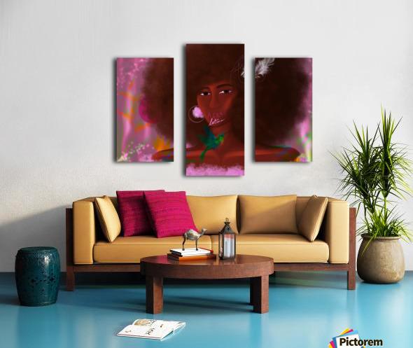 Afro Latina Canvas print