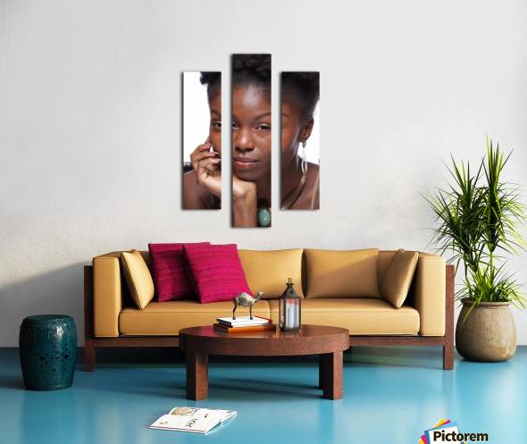 Black Woman Headshot Canvas print