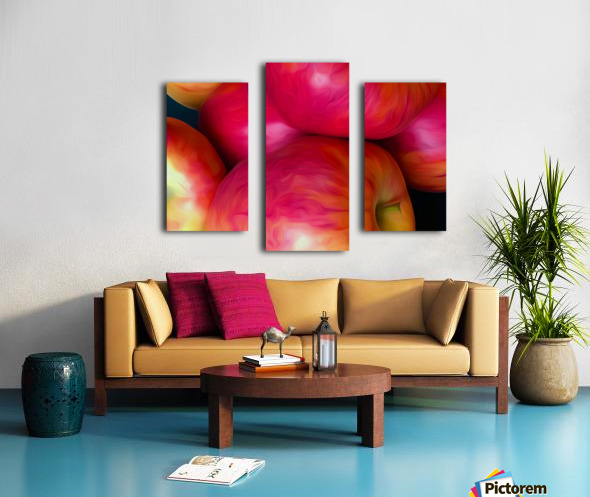A Slice Of Apples Canvas print