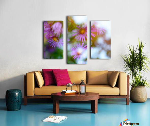 Fleur et ciel Canvas print