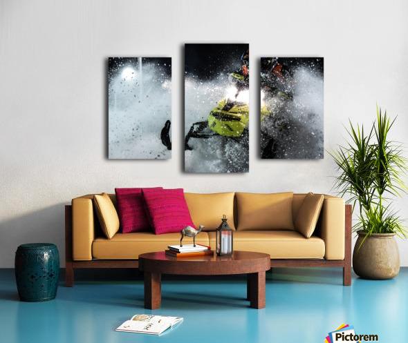 Chez nous c'est Ski-doo  Impression sur toile