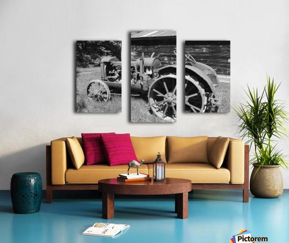McCormick-Deering gasoline tractor 2 B&W Canvas print