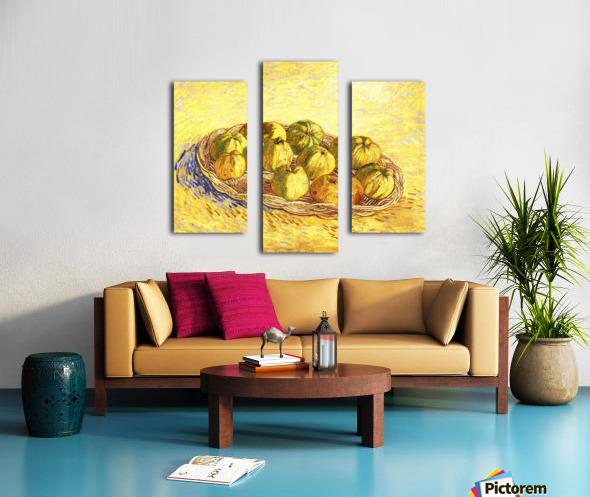 Still life with apple basket -2- by Van Gogh Canvas print