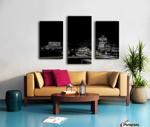 Hot lights on a Cold Night  Canvas print