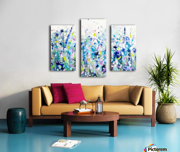 Ultramarine Meadow Canvas print