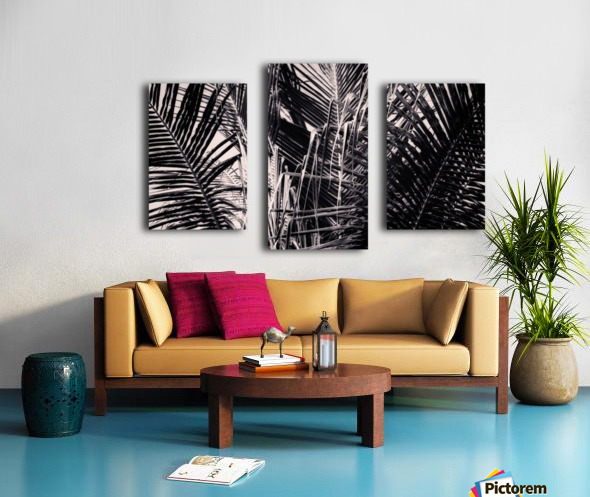 Palm Leaves Geometry Canvas print