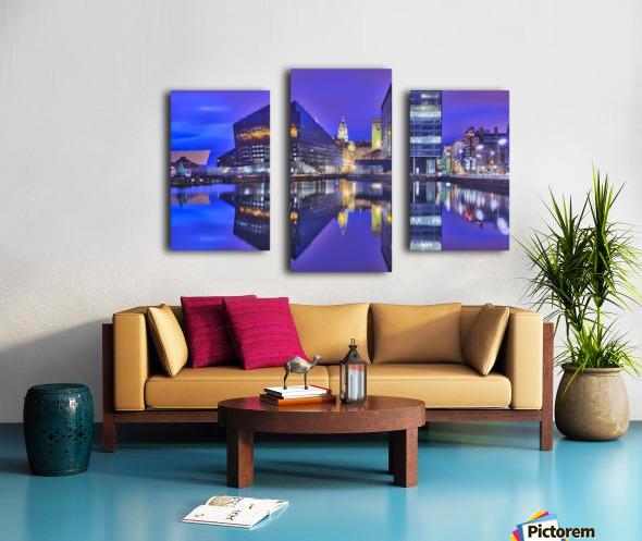 LIV 004 Dock Reflections_1549590972.26 Canvas print