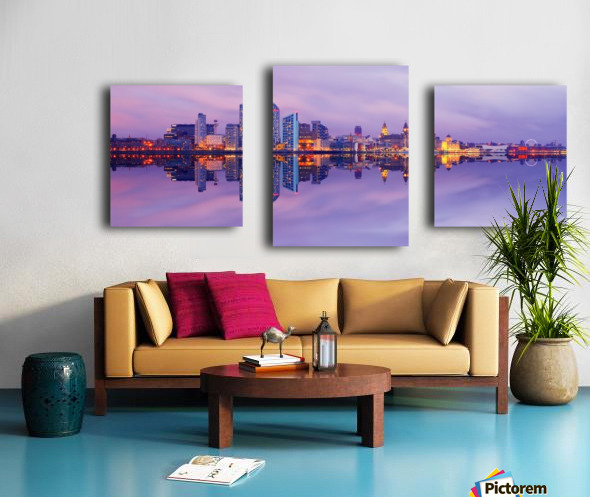 LIV 007 Liverpool Skyline   PANORAMIC_1549590966.45 Canvas print