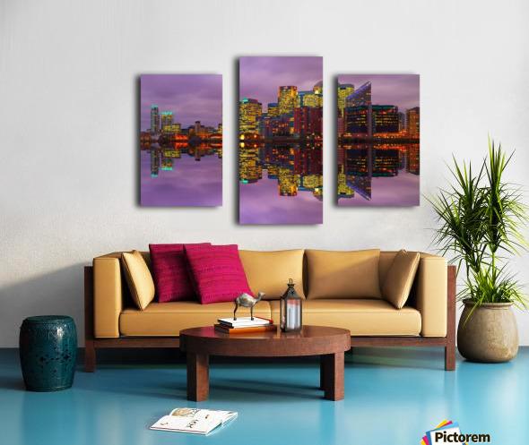 LON 008 Canary Wharf Reflection  Canvas print