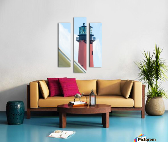 Jupiter Inlet Lighthouse Digital Painting Portrait 52 70 200px Canvas print