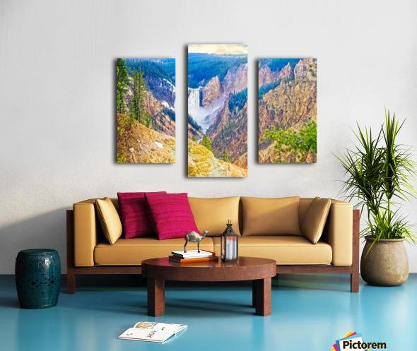 Yellowstone Falls Digital Painting Landscape 52 70 200px Canvas print