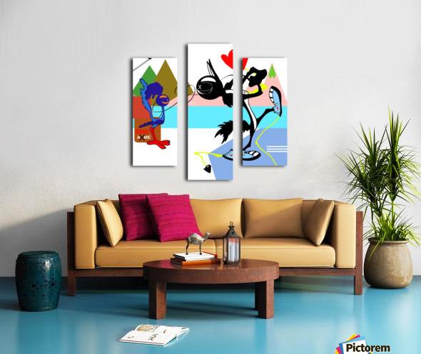 Love Running Canvas print