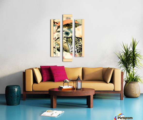 Papillon chinois  Canvas print