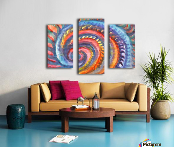 Watercolor abstract spiral staircase Canvas print