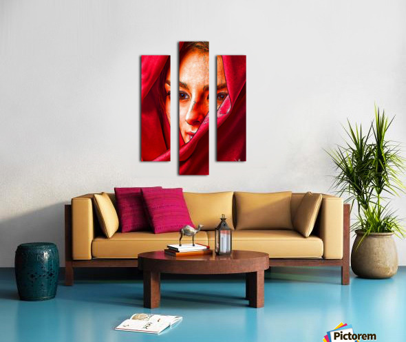 Bianca in red Canvas print