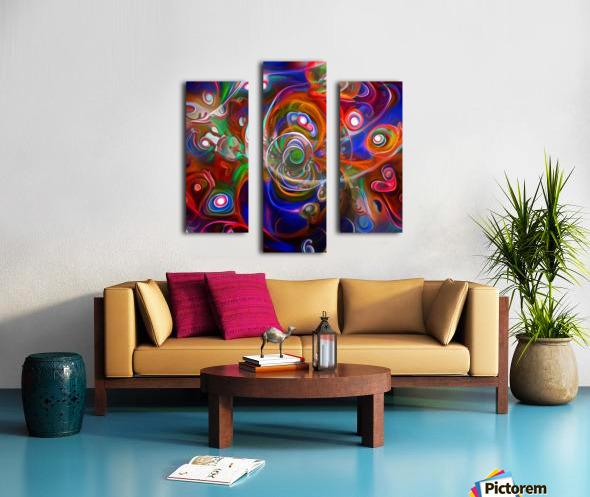 Vortex of Colors Canvas print