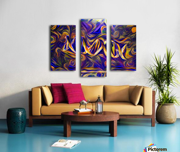 Abstract DNA Canvas print