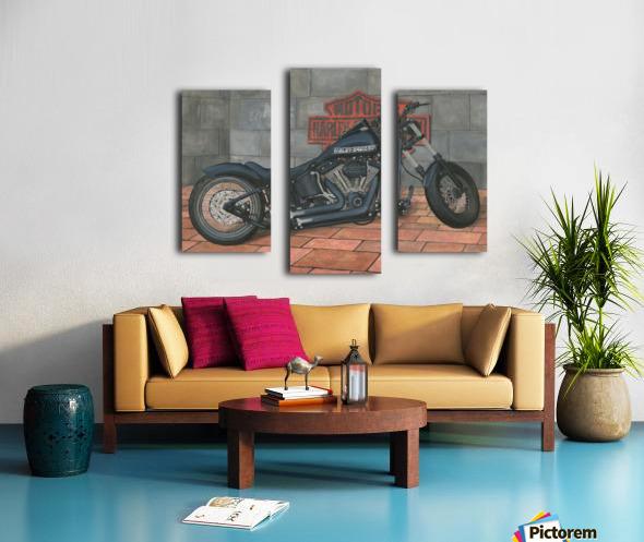 Harley Davidson Motorcycle Canvas print