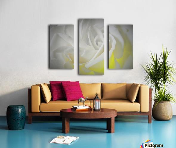 White Layers Canvas print