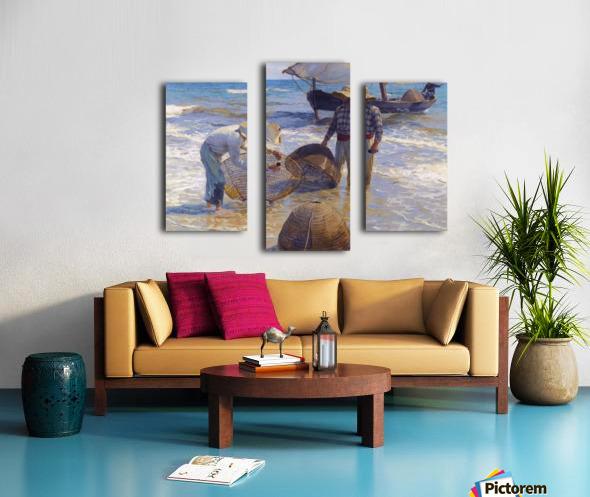 Los Pescadores Valencianos Canvas print