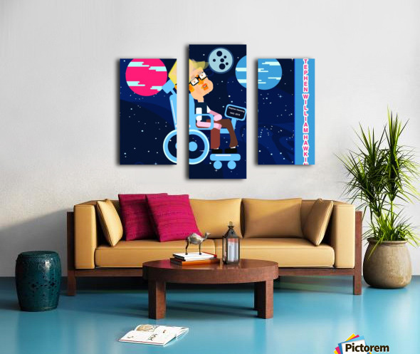 Stephen William Hawking illustartion Canvas print