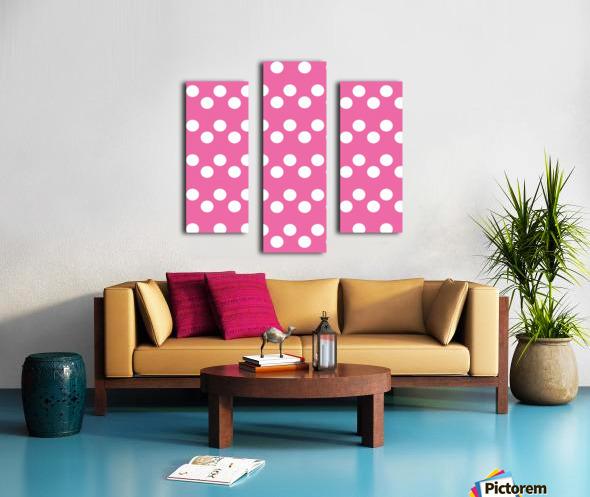 HOT PINK Polka Dots Canvas print