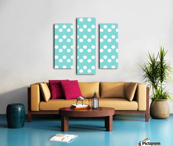 MINT Polka Dots Canvas print