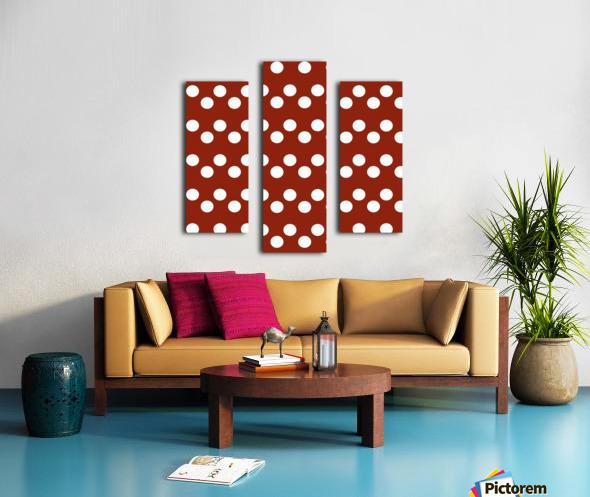 Crimson Polka Dots Canvas print