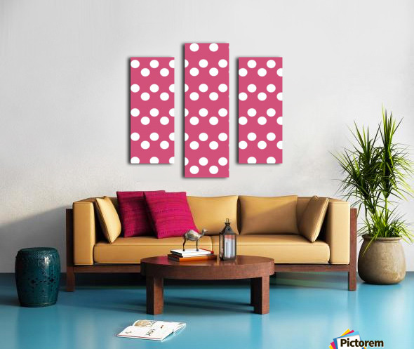 CRANBERRY Polka Dots Canvas print