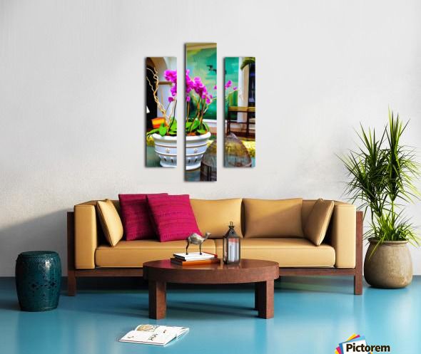 Sea Island Solarium Canvas print