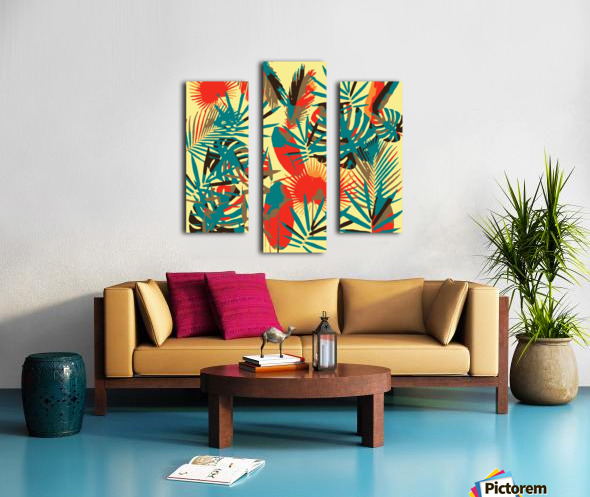 Colorful Abstract Tropical Leaves  Canvas print
